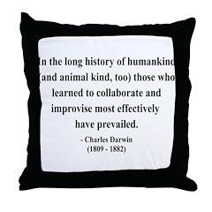 Charles Darwin 10 Throw Pillow