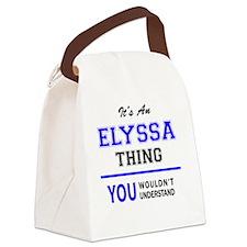 Cute Elyssa's Canvas Lunch Bag