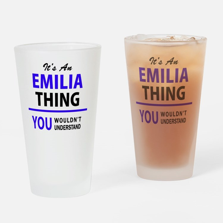 Cute Emilia Drinking Glass