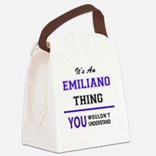 Cute Emiliano Canvas Lunch Bag