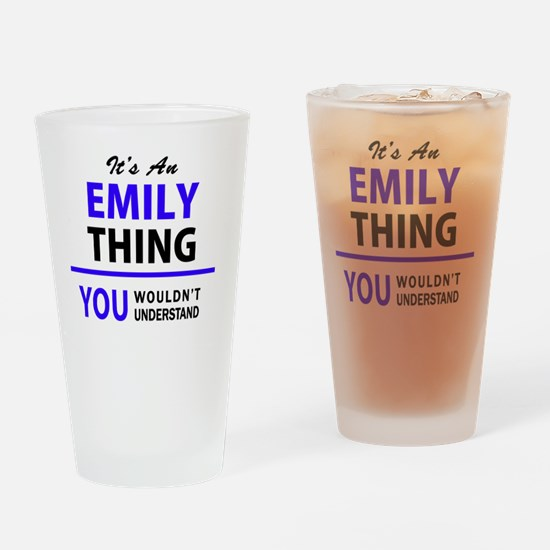 Cute Emily Drinking Glass