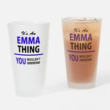 Unique Emma Drinking Glass