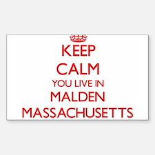 Keep calm you live in Malden Massachusetts Decal