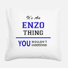 Cute Enzo Square Canvas Pillow