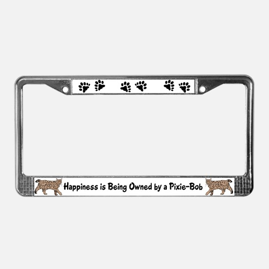 Pixie-Bob (color) License Plate Frame