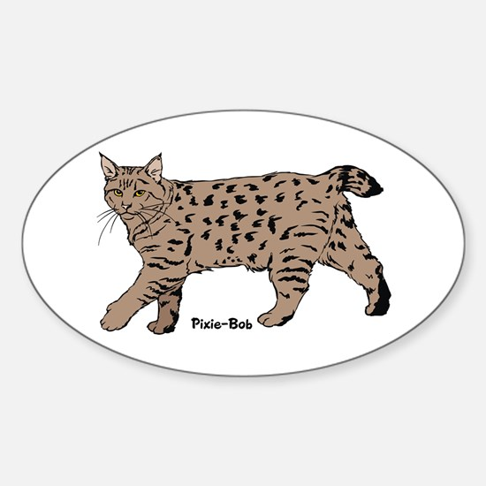 Pixie-Bob (color) Oval Stickers