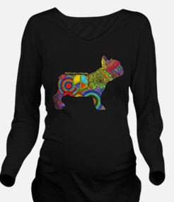 Peace Love Frenchies Long Sleeve Maternity T-Shirt