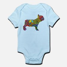 Peace Love Frenchies Infant Bodysuit