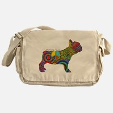 Peace Love Frenchies Messenger Bag
