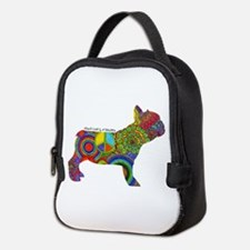 Peace Love Frenchies Neoprene Lunch Bag