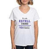 Estelle Womens V-Neck T-shirts