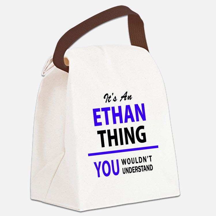 Cute Ethan Canvas Lunch Bag