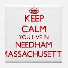 Keep calm you live in Needham Massach Tile Coaster
