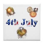 4th July Tile Coaster