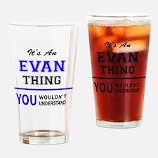 Cute Evan Drinking Glass