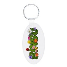 Cute Games Aluminum Oval Keychain