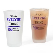Cute Evelyn Drinking Glass