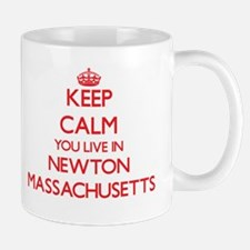 Keep calm you live in Newton Massachusetts Mugs
