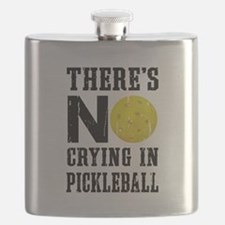 No Crying in Pickleball Flask