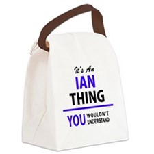 Funny Ian Canvas Lunch Bag