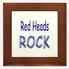 Red Heads Rock Framed Tile
