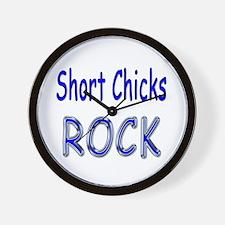 Short Chicks Rock Wall Clock