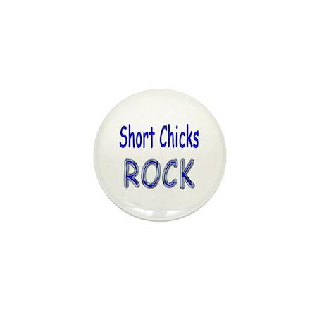 Short Chicks Rock Mini Button (10 pack)