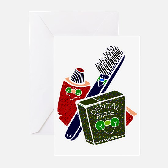 Toothbrush Toothpaste Floss Greeting Cards (Packag