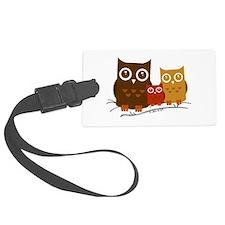 Three Owls Luggage Tag