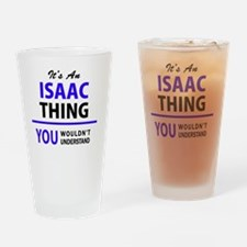 Cute Isaac Drinking Glass
