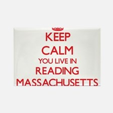 Keep calm you live in Reading Massachusett Magnets