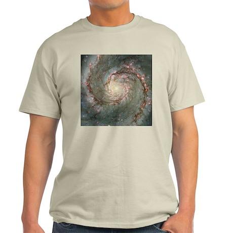M51 the Whirlpool Galaxy Grey T-Shirt