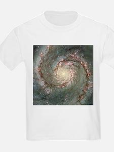 M51 the Whirlpool Galaxy Kids T-Shirt