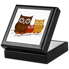 Three Owls Keepsake Box