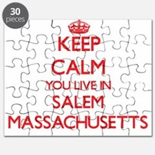 Keep calm you live in Salem Massachusetts Puzzle