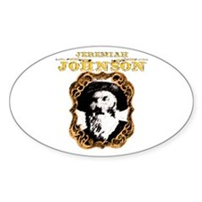 """Liver eating Johnson """" Jeremi Oval Decal"""