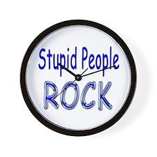 Stupid People Rock Wall Clock