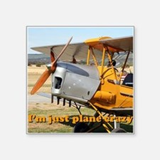 I'm just plane crazy: Tiger Moth Sticker