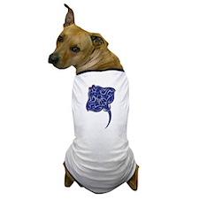 Tribal Manta Ray 2 Dog T-Shirt