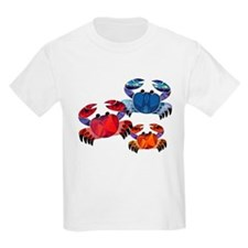 Blue & Red Mosaic Crab Trio T-Shirt