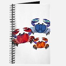 Blue & Red Mosaic Crab Trio Journal