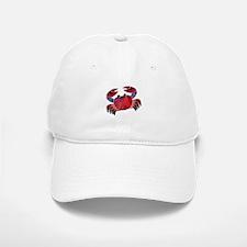 Red Mosaic Dungeness Crab Baseball Baseball Cap