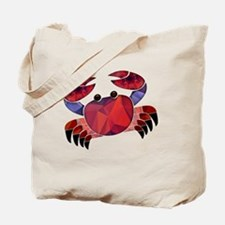 Red Mosaic Dungeness Crab Tote Bag