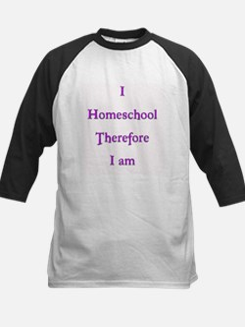 I Homeschool Therefore I Am 1 Kids Baseball Jersey