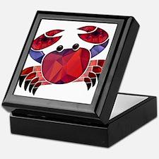 Red Mosaic Dungeness Crab Keepsake Box