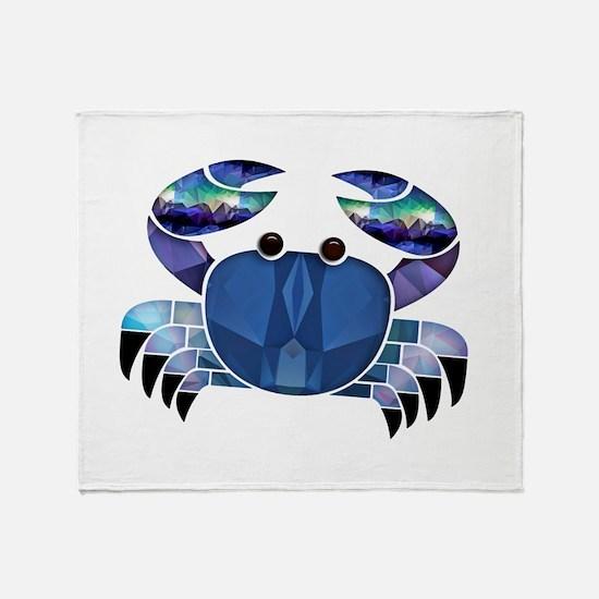 Blue Mosaic Dungeness Ctab Throw Blanket