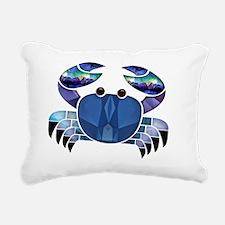 Blue Mosaic Dungeness Ct Rectangular Canvas Pillow