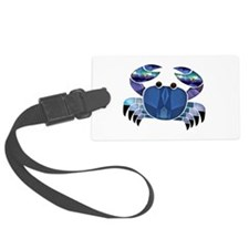 Blue Mosaic Dungeness Ctab Luggage Tag