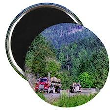 Hauling Logs Magnet