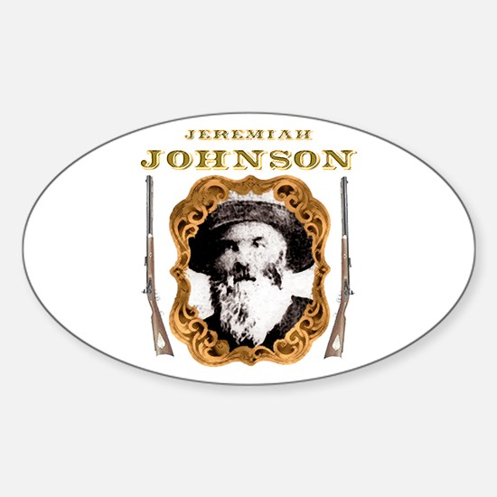 Liver eating Johnson Jeremiah Oval Decal